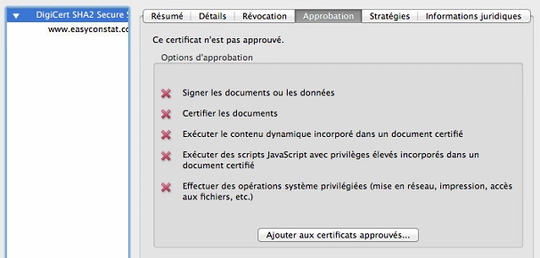 Adobe Reader sous Mac OS